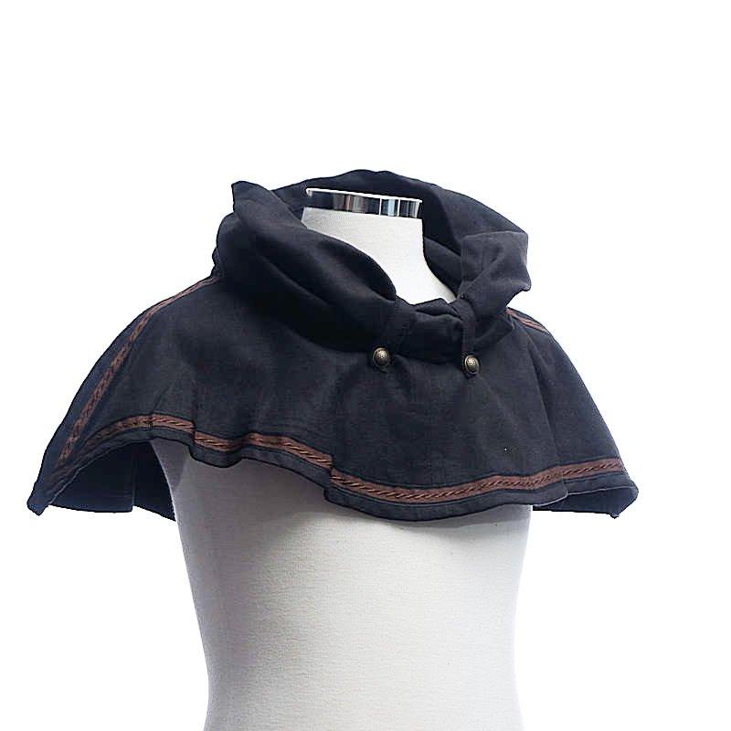 Capuche noire (Snood hood Black)