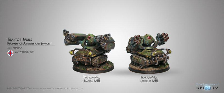 INF - Ariadna - Traktor Mul, artillery and support regiment