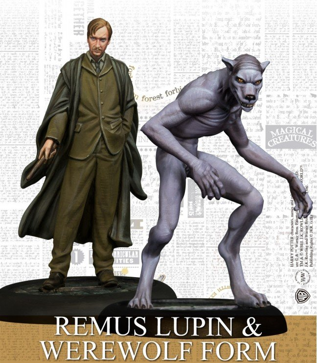 Harry Potter Miniatures - Remus Lupin & Werewolf Form