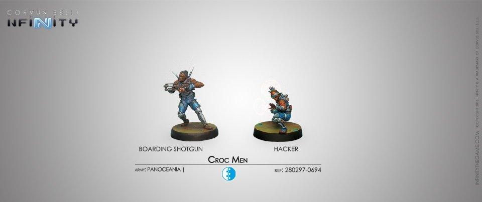 Inf - Panoceania - Croc men (Boarding shotgun + hacker)