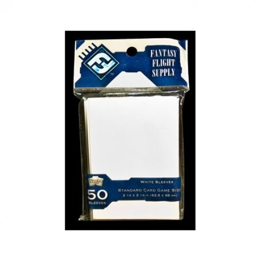 Protège carte FFG standard 63.5x88mm x50 blanc