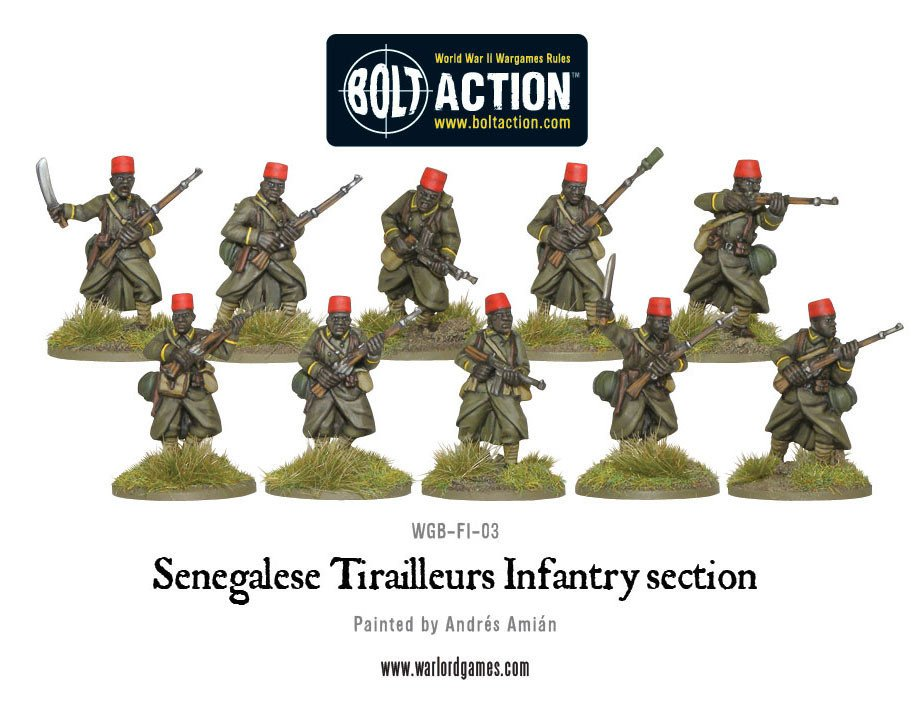 BA - French - Senegalese tirailleurs infantry section