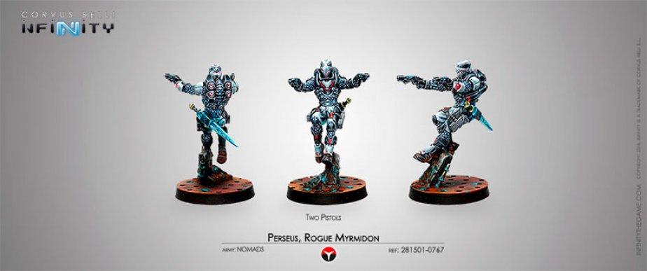 INF - nomads - Perseus, Mercenary Myrmidon (two pistols)