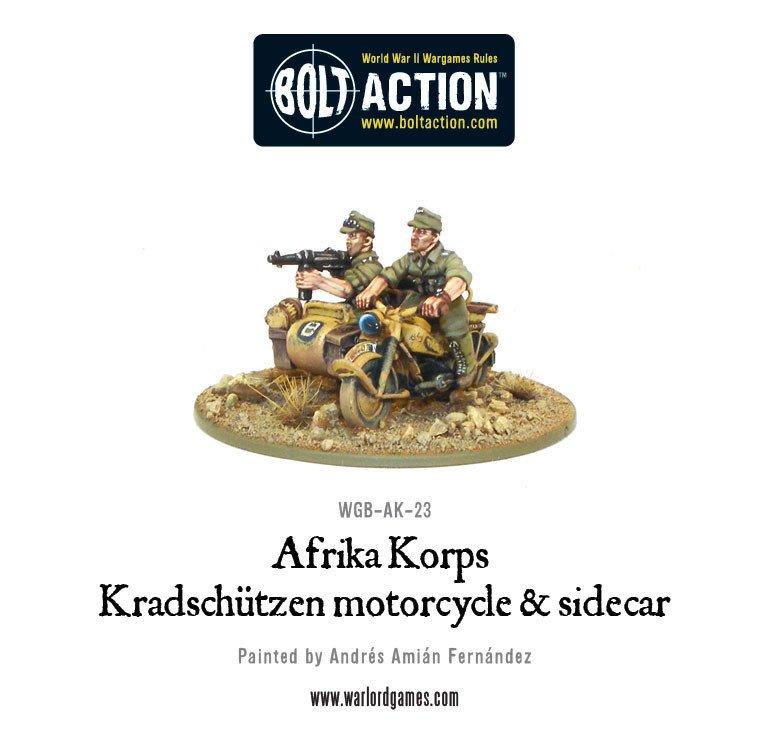 BA - Afrika Korps - Kradschützen motorcycle and sidecar