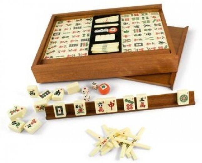 Mahjong Deluxe - Coffret en Bois