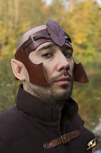 Bandeau elfique en cuir brun (Elven Head Band - Brown)