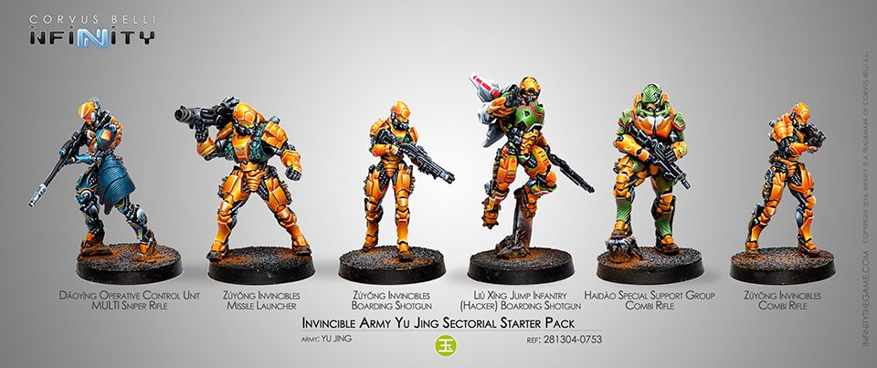 INF - Yu Jing - Invincible army Yu Jing (sect. starter pack)