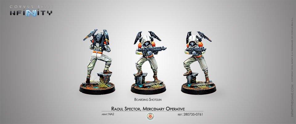 INF - NA2 - Raoul Spector, Mercenary Operative (Boarding Shotgun)