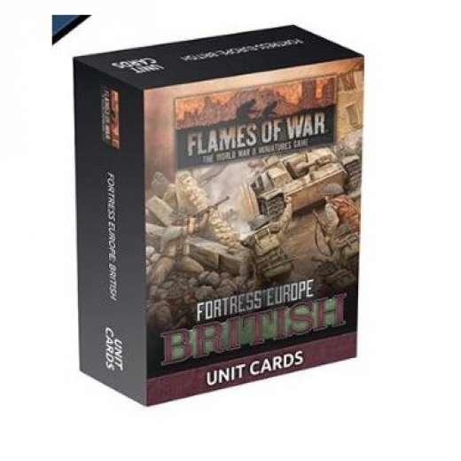 FoW - Fortress Europe : British unit card
