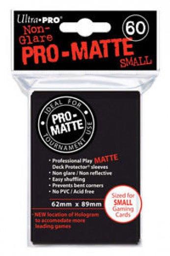 Protège carte small noir pro-matte x60