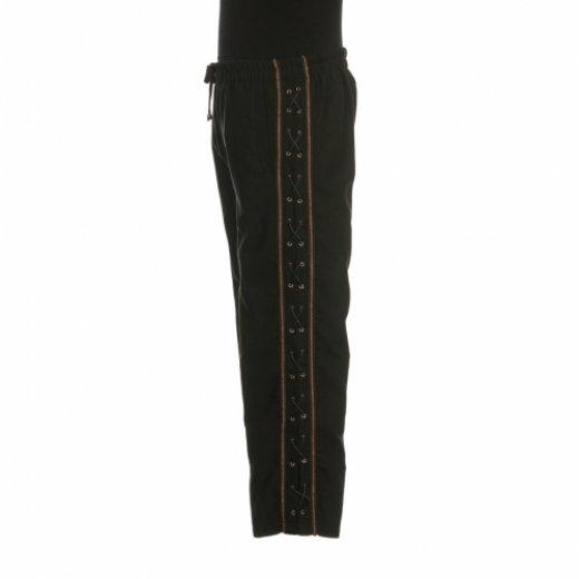 Pantalons effet daim avec laçage noir (Suede effect trousers with black lacing)
